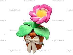 Плюшевый цветок с вазоном, К161А, фото