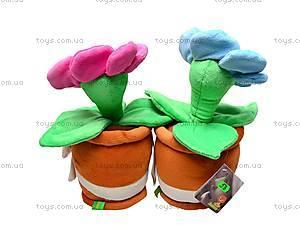 Плюшевый цветок с вазоном, К161А, отзывы