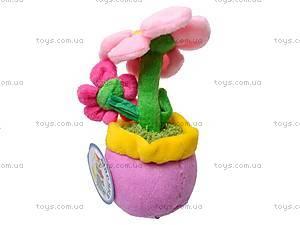 Плюшевый цветок в вазоне, ABA58096A, купить
