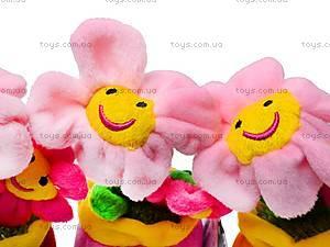 Плюшевый цветок в вазоне, ABA58096A, цена