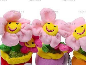 Плюшевый цветок в вазоне, ABA58096A, игрушки