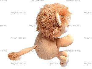 Плюшевый львенок «Ларчик», К292АС, фото