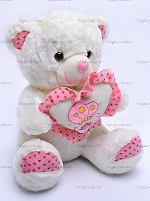 Плюшевый медведь с сердечком, S-WS756/30