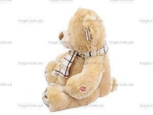 Плюшевый медведь, с шарфом, S-YZ-4036/46S, фото