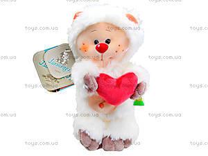 Плюшевый медвежонок «Почемучка влюбленный», К351ВН, купить