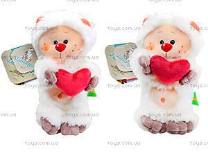 Плюшевый медвежонок «Почемучка влюбленный», К351ВН