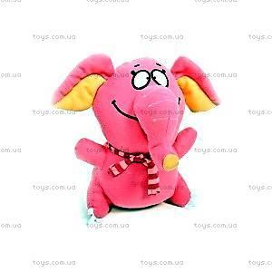 Плюшевый розовый слон, РСН01