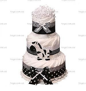 Торт из подгузников Zebra, PPC35