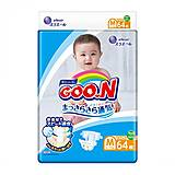 Подгузники GOO.N для детей 6-11 кг размер M на липучка  унисекс 64 штук, 843154, детский