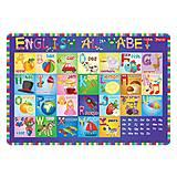 """Подложка для стола детская """"Алфавит английский"""" (2 штуки в упаковке), 491467"""