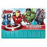 """Подложка для стола """"Marvel.Avengers"""" таблица умножения 2 шт. в упак, 491646, детские игрушки"""