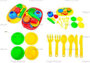 Поднос с набором посуды для детей, 990в.2