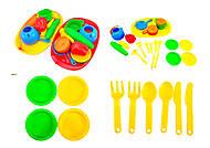 Поднос с набором посуды для детей, 990в.2, фото