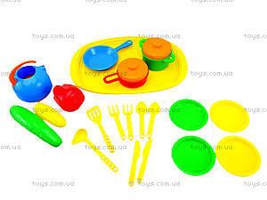 Поднос с набором посуды для детей, 990в.2, игрушки