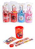 """Подставка-стакан, с принадлежностями """"Мультяшки"""", разные виды, 3317, іграшки"""