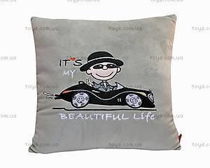 Декоративная подушка «Автомен», ПАН0