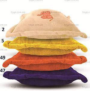 Подушка из микрофибры, кремовая, 0055-2