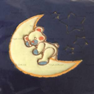 Детская подушка из микрофибры, синяя, 0055-47, купить