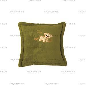 Подушка из микрофибры, зеленая, 0055-L-41