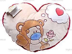 Подушка «Медвежонок с розочкой», К198