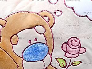Подушка «Медвежонок с розочкой», К198, отзывы