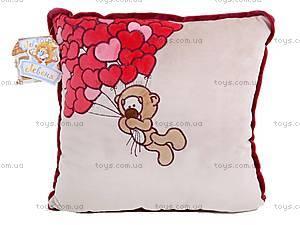 Подушка «Медвежонок с сердечками», К202