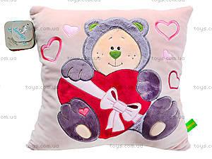 Подушка мягкая «Медвежонок-Почемучка», К367В, цена