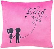 Подушка-валентинка Ты и я розовая, ПД-0218, купить