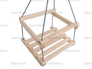 Подвесная качель, деревянная, , toys