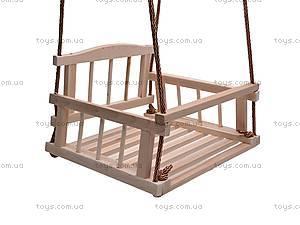 Подвесная качель, деревянная, , цена