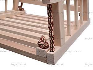 Подвесная качель, деревянная, , детские игрушки
