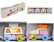 Деревянная игрушка-каталка «Поезд», 11889, отзывы