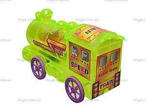 Поезд инерционный, 4 вида, 0381, детские игрушки