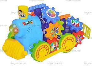 Поезд-конструктор, радиоуправляемый, 9606, детские игрушки
