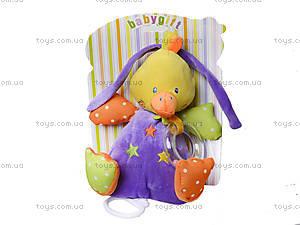 Музыкальная мягкая игрушка-тянучка на кроватку, BT-T-0013, фото