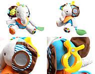 Мягкая погремушка-брелок Слон, BT-T-0052
