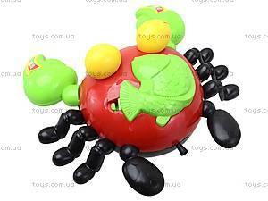 Погремушка «Краб» на шнурке, 118-10, toys.com.ua