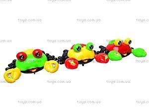 Погремушка «Краб» на шнурке, 118-10, детские игрушки