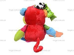 Погремушка мягкая детская «Обезьянка», 8012, игрушки
