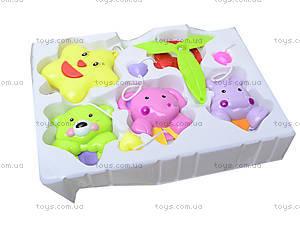 Заводная погремушка на кроватку «Милые животные», D058, цена