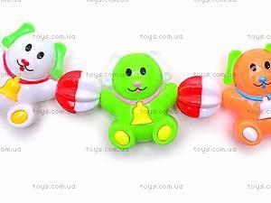 Погремушка-подвеска Funny Animals, 6363A, фото