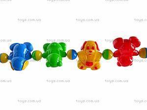 Погремушка-подвеска «Медвежонок и собачка», 01557, игрушки