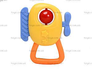 Желтая погремушка для малыша, 777-50B, фото