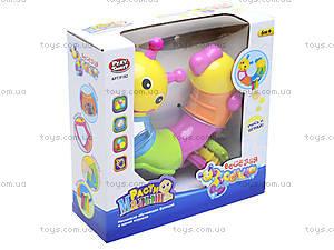 Погремушка «Веселая гусеница», 9182, игрушки