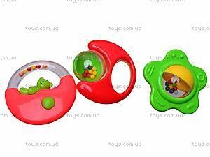 Погремушки для малышей в наборе, 208-15, игрушки