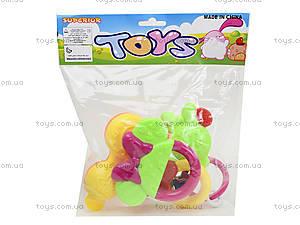 Набор погремушек с прорезывателями, 6123, игрушки