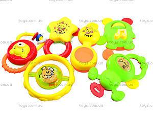 Погремушки игровые 6 штук , 6114, игрушки
