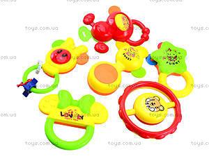 Набор погремушек для детей 6 штук, 6115, детские игрушки