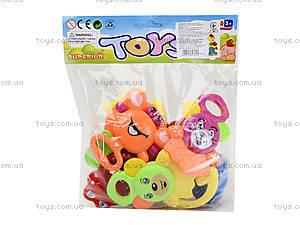 Набор погремушек «Зоопарк», 6140, toys
