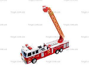 Игрушечная пожарка с лестницей, 2199A, детские игрушки
